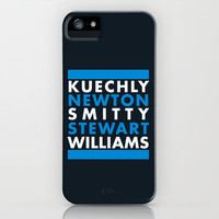Carolina Panthers iPhone & iPod Case by Ashley B.