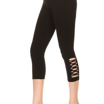 Cutout Athletic Capri