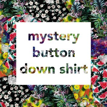 Mystery Short-Sleeve Button Down Shirt