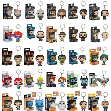 FUNKO POP New Pocket Pop Keychain Original Action Figures Marvel Venom Avengers Potter Model Cute Toys Christmas Present Gift