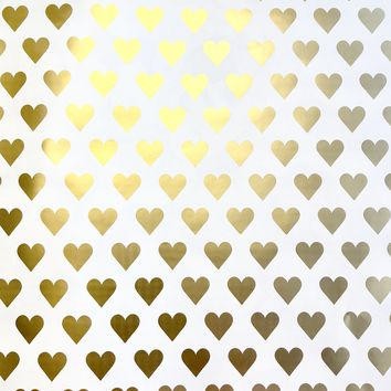Bulk Ream Roll Wedding Love Gift Wrap Wrapping Paper, Gold Hearts