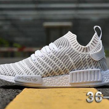 CREYNW6 Adidas NMD R1 Stlt Spring Summer 2018 Line up White Running Sport Shoes Camouflage Sneakers Casual Shoes