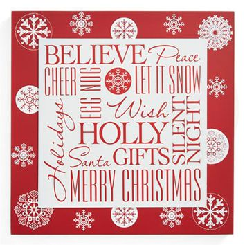 K & K Interiors 'Believe' Christmas Plaque