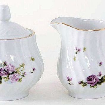 Lydia Porcelain Sugar Creamer Set