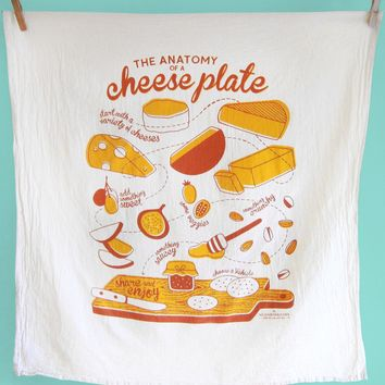 Cheese Plate Dish Towel