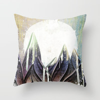 My magical beans garden Throw Pillow by happymelvin
