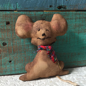 Primitive Mouse Ornament Bowl Filler - Gingerbread Mouse
