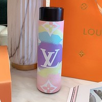 Louis Vuitton LV Fashion Couple Style Gradient Printed Letter Stainless Steel High-End Thermos Bottle