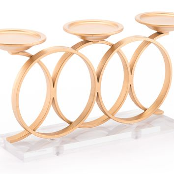 A11056 Infinity Candle Holder Gold