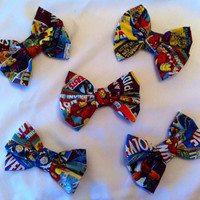 Pack of 5 Marvel Superhero Medium Sized Fabric Hair by StylishGeek