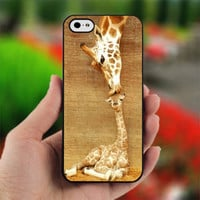 Giraffe Kisses - Photo on Hard Cover For iPhone 4/4S