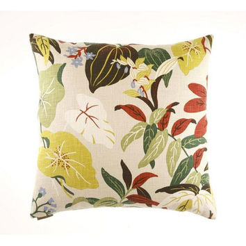 Canaan Company 2080-N Fabriano Cotton Print 24 x 24 Pillow