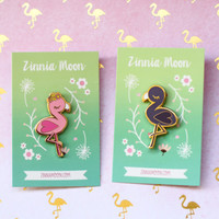Flamingo Enamel Pin Set