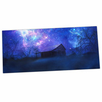 "Viviana Gonzalez ""Beginning"" Blue Galaxy Desk Mat"