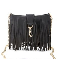 Chain Strap Fringe Cross-Body Bag by Charlotte Russe