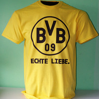 Borussia Dortmund Football Soccer T Shirt - Echte Liebe - True Love