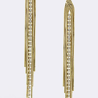 Crystal Link Chain Drop Earrings