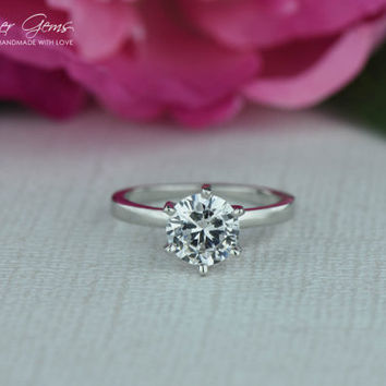1.5 Carat 6 Prong Solitaire Engagement Ring by TigerGemstones