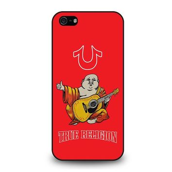 RED BIG BUDDHA TRUE RELIGION iPhone 5 / 5S / SE Case Cover