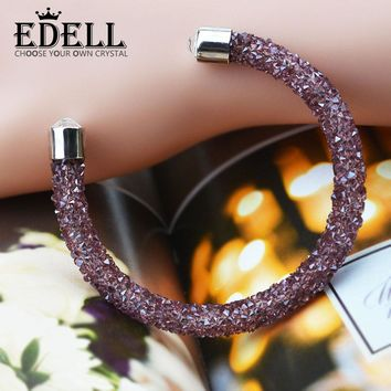 EDELL Selling Brand 2017 New Fashion Crystal Double Layer Bracelets Bracelets For Women Wedding Party Gift Jewelry
