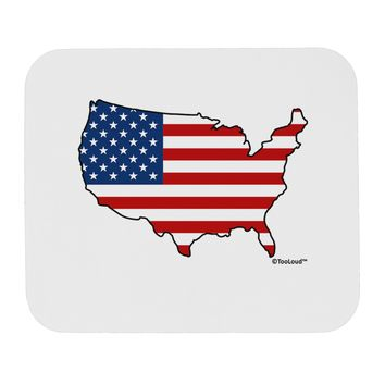 United States Cutout - American Flag Design Mousepad by TooLoud