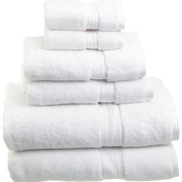 Superior 900 GSM Luxury Bathroom 6-Piece Towel Set, Made of 100% Premium Long-Staple Combed Cotton, 2 Hotel & Spa Quality Washcloths, 2 Hand Towels, and 2 Bath Towels - White