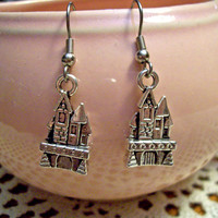 Castle Earrings Enchanted Castle Fairy Tale Sleeping Beauty Medieval Turrets Tower fit for a Queen Princess