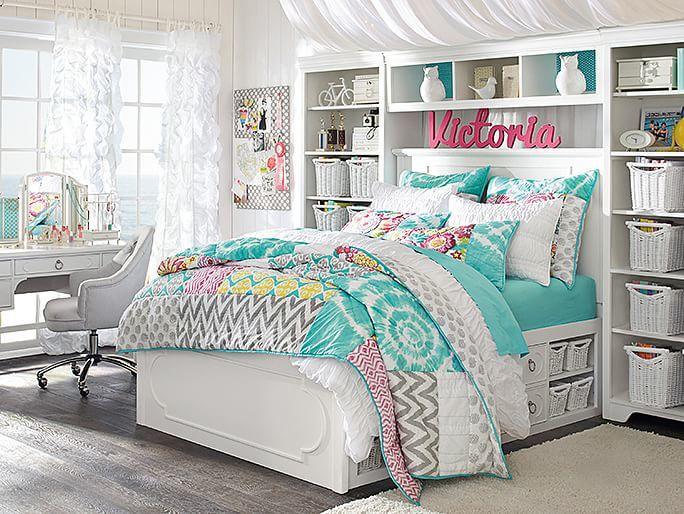 Shelby sunset beach bedroom from pbteen room ideas for Room decor ideas for teenage room
