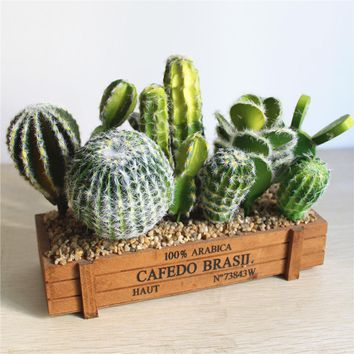 1pcs Artificial Plants Vivid Cactus Decoration Artificial Flower Wedding /Party/Bedroom/Office Decorations