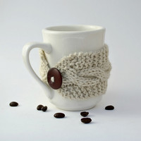 Coffee tea cup cozy mug cozy Oatmeal by socksandmittens on Etsy