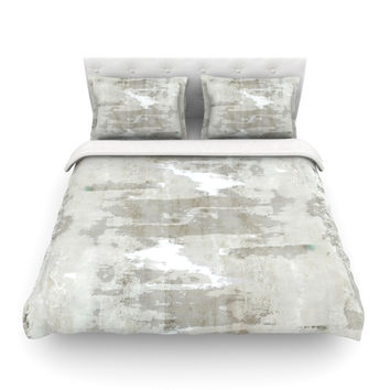 "CarolLynn Tice ""Effortless"" Neutral Gray Featherweight Duvet Cover"
