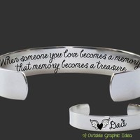 When Someone You Love Becomes a Memory Bracelet | Memorial Jewelry