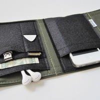 Nerd Herder gadget wallet in Olive Your Wallet on the redditgifts Marketplace