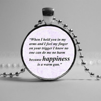 Song Lyric Necklace. John Lennon Pendant. Music Jewelry: Beatles Quote Necklace, Romantic Gift for Her