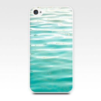 iphone 4 case 4s iphone 5 abstract water nautical photography ocean ripples case waves beach cell phone aqua green pastel mint teal