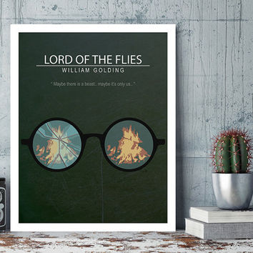 Lord of the Flies, William Golding, Harry Hook, Minimal Movie Poster.