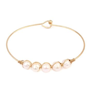 Pearl Wired Bracelet