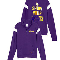 Minnesota Vikings Bling Boyfriend Half-Zip - PINK - Victoria's Secret