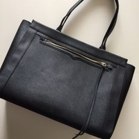 Rebecca Minkoff Black Leather Shoulder Handbag