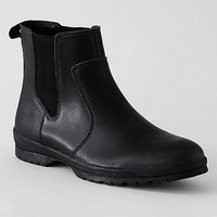 Mens Black Lands' End Black men's winter chelsea boots