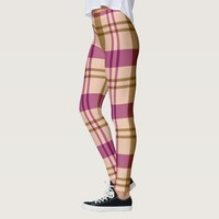 Bittersweet Plaid Pattern Leggings