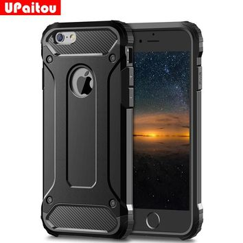 UPaitou Rugged Dual Layer Armor Case for iPhone 6S Plus Case Heavy Duty Shockproof Cases Cover for iPhone 6 Plus 6S Plus PC TPU