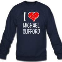 5 Seconds of Summer I Love Michael Clifford Sweatshirt Crew Neck