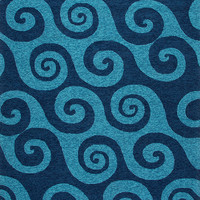 Coastal Living Collection Wave Hello Rug in Navy design by Jaipur