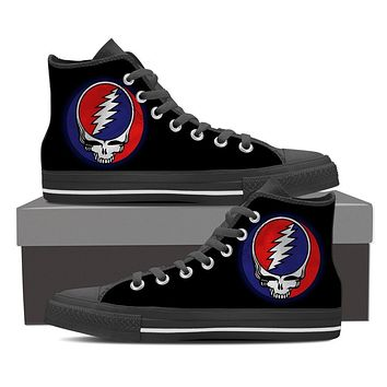 Steal Your Face Grateful Dead Canvas Print Women's High Top