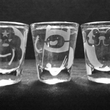 Set of 3 Adventure Time Shot Glasses