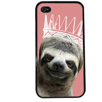 Sloth Princess / Animal iPhone 4 Case Creepy iPhone 5 Case iPhone 4S Case iPhone 5S Case Trendy Iphone Case