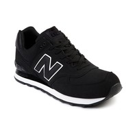 Mens New Balance ML 574 Athletic Shoe, Black | Journeys Shoes