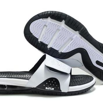 ONETOW Nike Air LeBron Slide White/Black Casual Sandals Slipper Shoes Size US 7-11