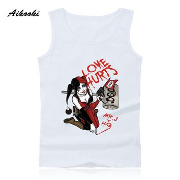 Men Vest Cartoon Suicide Team Harley Quine Tank Tops Men's/Women's Casual Cotton Tank Tops Hip Hop Summer Male Pop Fashion Vest